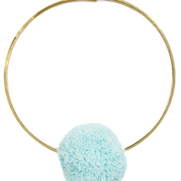 SWEET POM BLUE & GOLD COLLAR