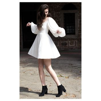 White Silk Angel Dress