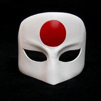 Suicide Squad Katana White Cosplay Leather Masks