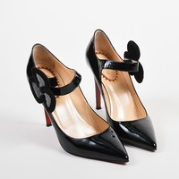 LMFU2C Black Christian Louboutin Patent Pensee 20 Ans Mary Jane Pumps