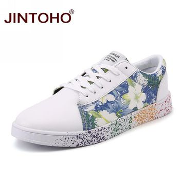 JINTOHO Big Size Skateboarding Shoes Valentine Walking Shoes Cheap White Sneakers Lady Trainers Leather Sport Shoes Zapatos