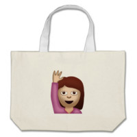 Happy Person Raising One Hand Emoji Bags
