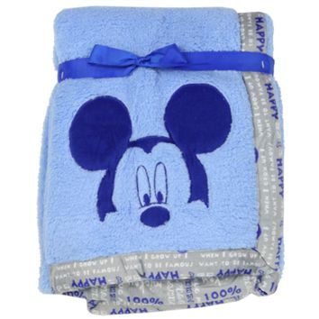 Disney's Mickey Mouse Applique Sherpa Blanket