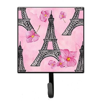Watercolor Pink Flowers and Eiffel Tower Leash or Key Holder BB7511SH4