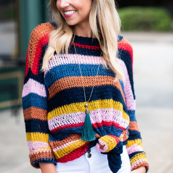 Bound To Be Bold Sweater, Multi