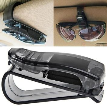 2017 New hot Car Sun Visor Glasses Sunglasses Ticket Receipt Card Clip Storage Holder Levert Dropship CCSC26