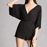 Surplice Self-Tie Romper