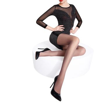 MISILCK nylons lady pantyhose,Leg shaping silk stockings,compression tights fishnet  Summer 2 pieces