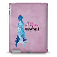 Anna - Build a Snowman – Frozen Disney Princess - Hard Case Cover for iPad, Kindle, Galaxy Tab, Nexus, Android, & more