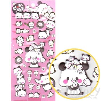 Chubby Panda Bear Shaped Animal Themed Super Puffy Stickers for Decorating