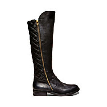 Cognac Quilted Riding Boots   Steve Madden Northsde