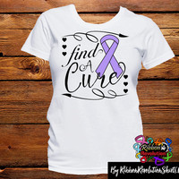 Lavender Ribbon Find A Cure Shirts (General Cancer and Rett Syndrome)