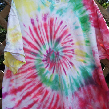 3XL Tie Dye TShirt, Extra Large Tiedye Shirt,  3xl TieDye Shirt, XL Tiedye, Hippie Shirt, Retro, the 60s, Bohemian Shirt, Plus Size Shirt