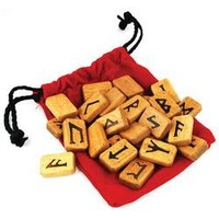 Wood Rune Set by Lo Scarabeo