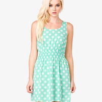 Smocked Polka Dot Dress