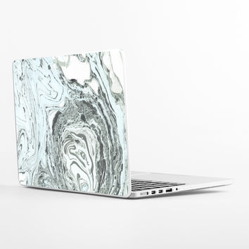 Marbled Mint Laptop Skin