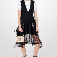Products by Louis Vuitton: Wool Mohair And Lace Dress With Studs Detail