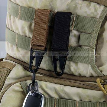 Tactical Carabiner Backpack Hooks Olecranon Molle Hook Survival Gear EDC Military Outdoor Camping Nylon Keychain Clasp