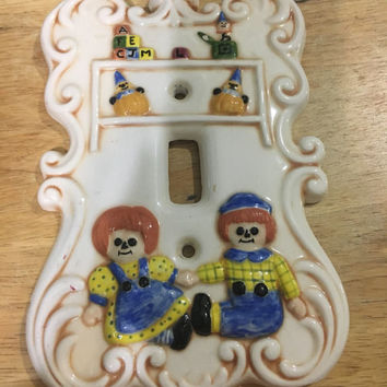 Raggedy Ann & Andy Light Switch Cover