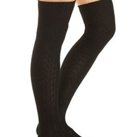 Cable Knit Over-the-Knee Socks by Charlotte Russe