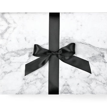 Marble Wrapping Paper - Black and White Pattern Modern Chic Party Scandinavian Gift Wrap