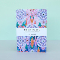 Pastel Folk Dreams A5 Notebook With Lined Pages by Nikki Strange