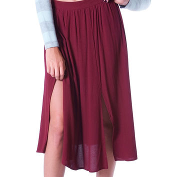Milan Midi Skirt Oxblood