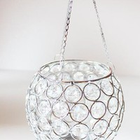 "Crystal Ball Hanging Votive Candle Holder - 5"" Wide"