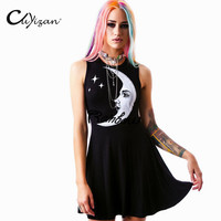 Fashion digital print dress Adventure Time Punk Dress Plus Size Summer style party Dresses