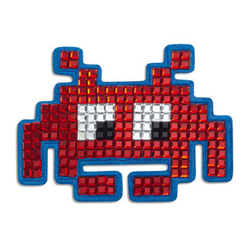 Anya Hindmarch Space Invader™ Crystal Sticker for Handbag, Red