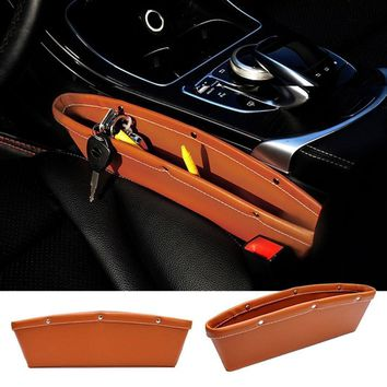 In India Universal car side storage pure leather pouch