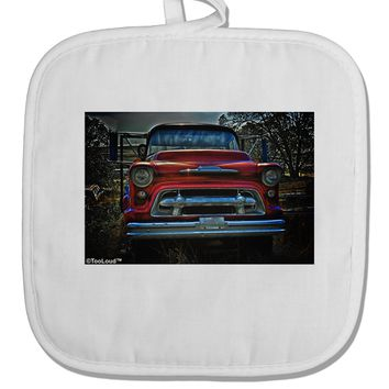 Vintage Truck White Fabric Pot Holder Hot Pad by TooLoud