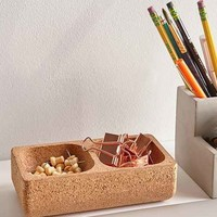 Rectangle Cork Desk Organizer