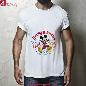 Mickey Mouse Happy Birthday for Men T-Shirt, Women T-Shirt, Unisex T-Shirt