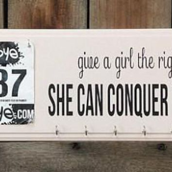 Give a Girl the Right Shoes She Can Conquer the World Plaque