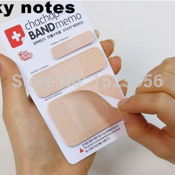 1pcs Cute Band aid Series Memo pad Post it stickers Sticky notes paper Notepad kawaii stationery office papeleria supplies notas