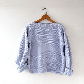 vintage cropped sweater. lilac purple sweater. textured knit. preppy cotton sweater