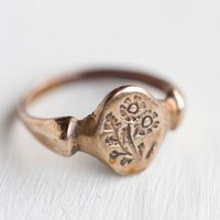 Bronze Dandelion Ring