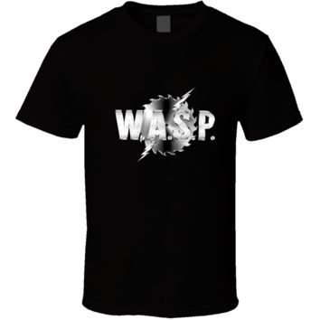 Hot Band Concer Wasp Rock Style Gear Logo  T Shirt