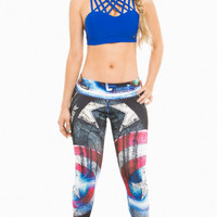 Fiber Activewear Leggings Limited Edition Captain America 2