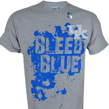 University of Kentucky BLEED BLUE on GREY Shirt