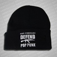 Defend Pop Punk White On Black : MerchNOW