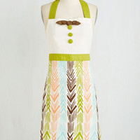 Boho All Good in the Woods Apron in Conifer by ModCloth