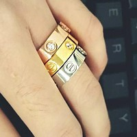 "Cute couple rings women ring ""Cartier"" rhinestone ring on simplicity I"