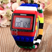 Makibes Unisex Colorful Block Brick Style Digital Wrist Watch- Multi Color = 1956485700