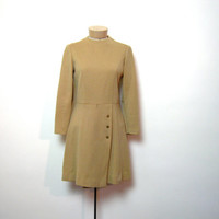 STOREWIDE SALE... vintage 70s brown dress with long sleeves