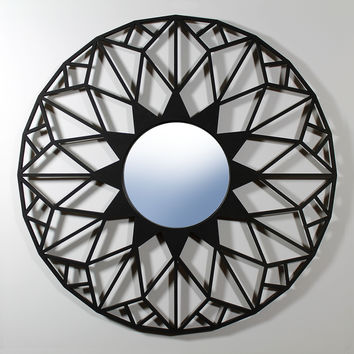 "LATTICE WALL MIRROR - 6"" mirror"