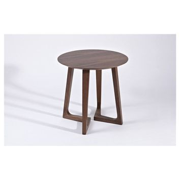 "Modern Scandinavian Walnut ""Arttu"" Side Table"