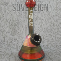 Custom Mini Beaker Hand Pipe 2 by Liquid Sci Glass