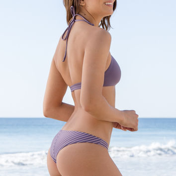 Bettinis - Perfect Fit Reversible Bottom | Stripe Nude